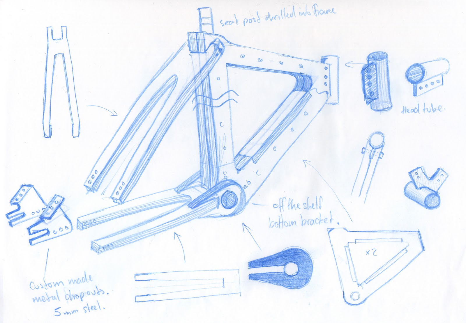 Building a wooden bike.: The plan.