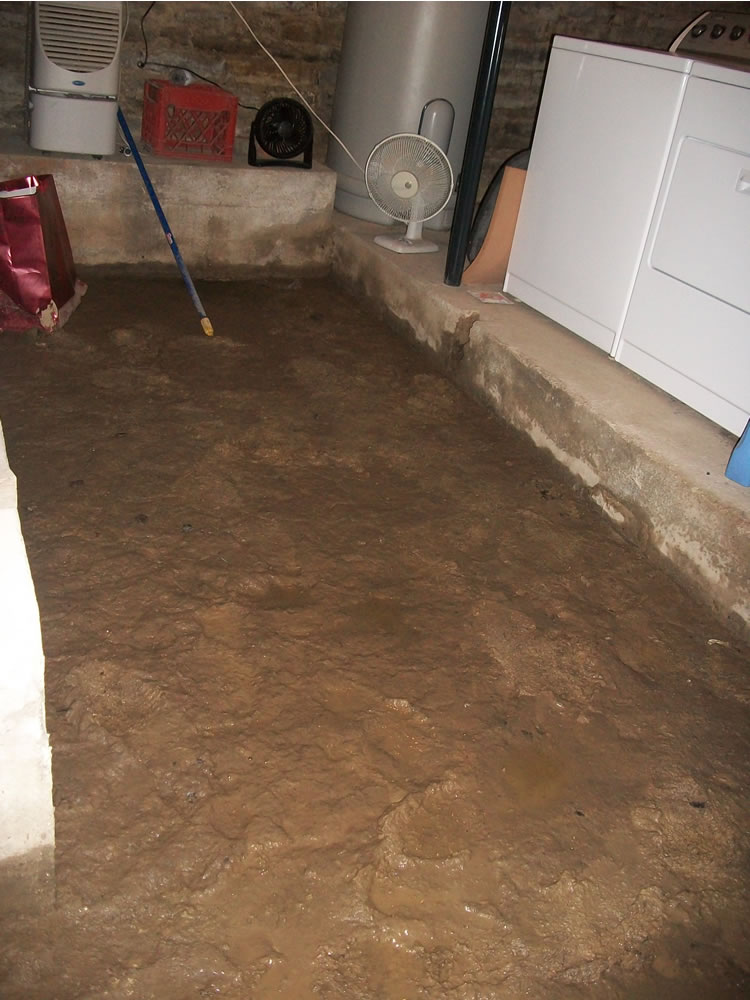 dirt floor basement had a dirt floor