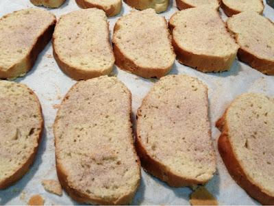 Finished Zwieback toast