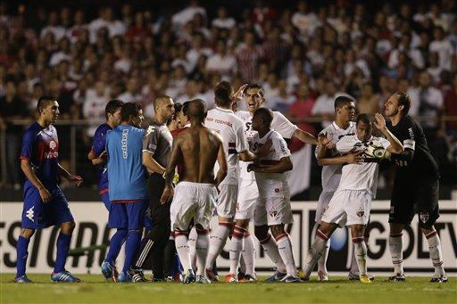 Incidentes San Pablo vs Tigre