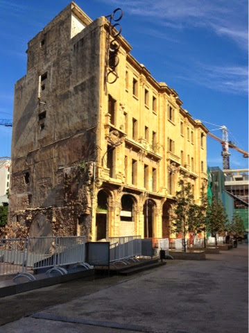 Picture of an old souk building in downtown Beirut.