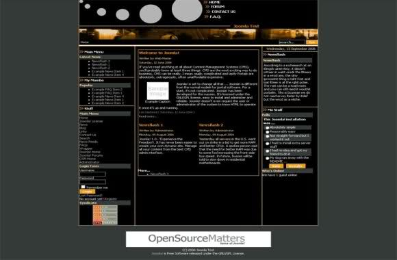 Free Joomla Dark Cercles Black Theme Template