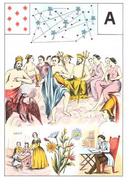 Grand jeu de Mme Lenormand : tirage 5 cartes 'évolution carrière' 23%2520carreau%25208