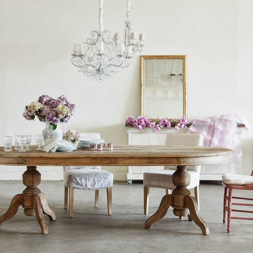 Como decorar un comedor shabby chic for Como decorar un aparador