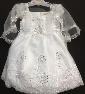 Angel Girl Toddler WHITE Christening Baptism Dress Gown/#XS/S/M/L/XL/0-3M/3-6M/6-12M/12-18M/18-24M/XSMALL/SMALL/MEDIUM/LARGE/X L/5613 at Sears.com
