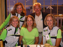 J/22 Hot Ticket team- sailed by Sue Mikulski and Sandy Adzick in Rolex Women's Worlds