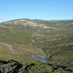 Confluence of the Snowy River and Club Lake Creek from the Main Range Lookout (265238)