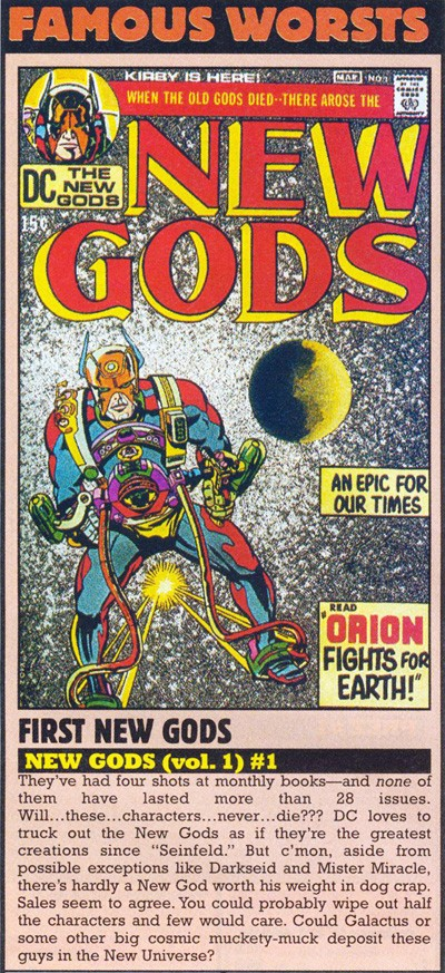 The New Gods Suck (Wizard Magazine #93, May 1999)