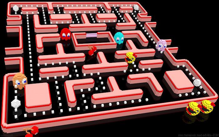 Hình nền đa phong cách về game Pacman - Ảnh 2
