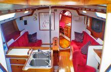 J/44 interior cabin