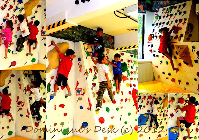 Rock climbing indoor