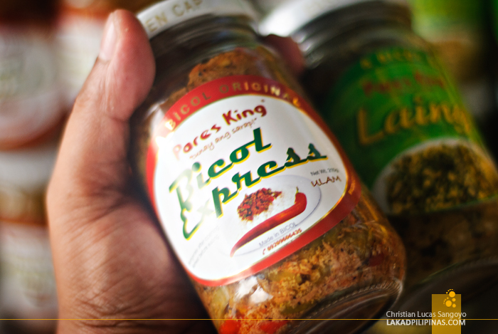 Bottled Bicol Express at Legazpi's Ibalong Pasalubong Center
