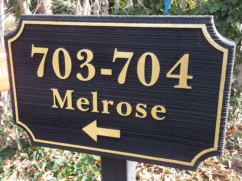 carved signs with gold leaf 703
