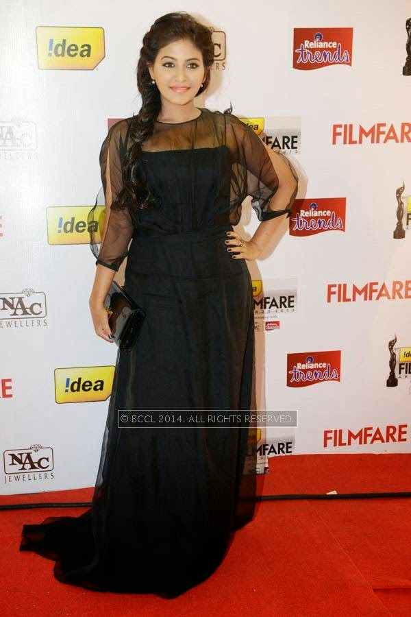 Anjali during the 61st Idea Filmfare Awards South, held at Jawaharlal Nehru Stadium in Chennai, on July 12, 2014.