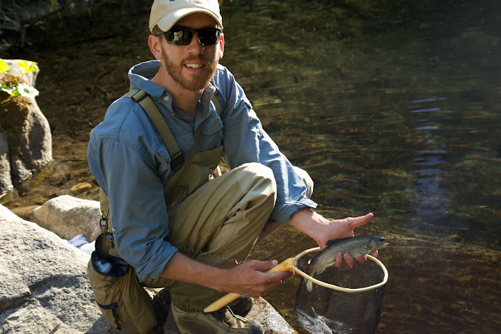 The ensuing trout Daniel Galhardo caught on tenkara
