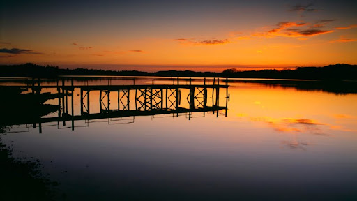 Fishing Pier at Sunset, Fort Loudon Lake, Knoxville, Tennessee.jpg