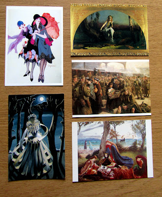 Postcards based on paintings