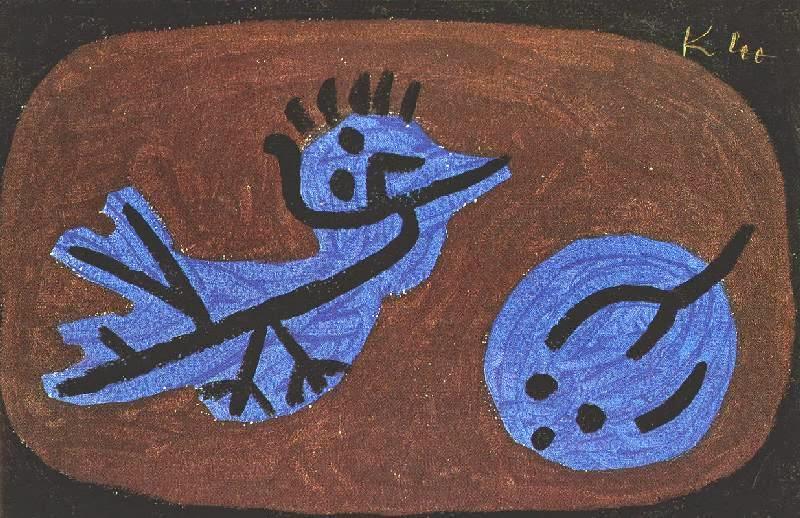 Paul Klee - Blue bird pumpkin, 1939