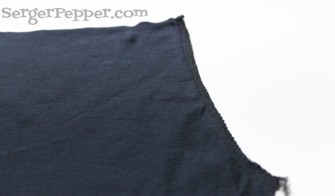 Serger Pepper - Guest Post on TitiCrafty - Refashion T-Shirts to PJ