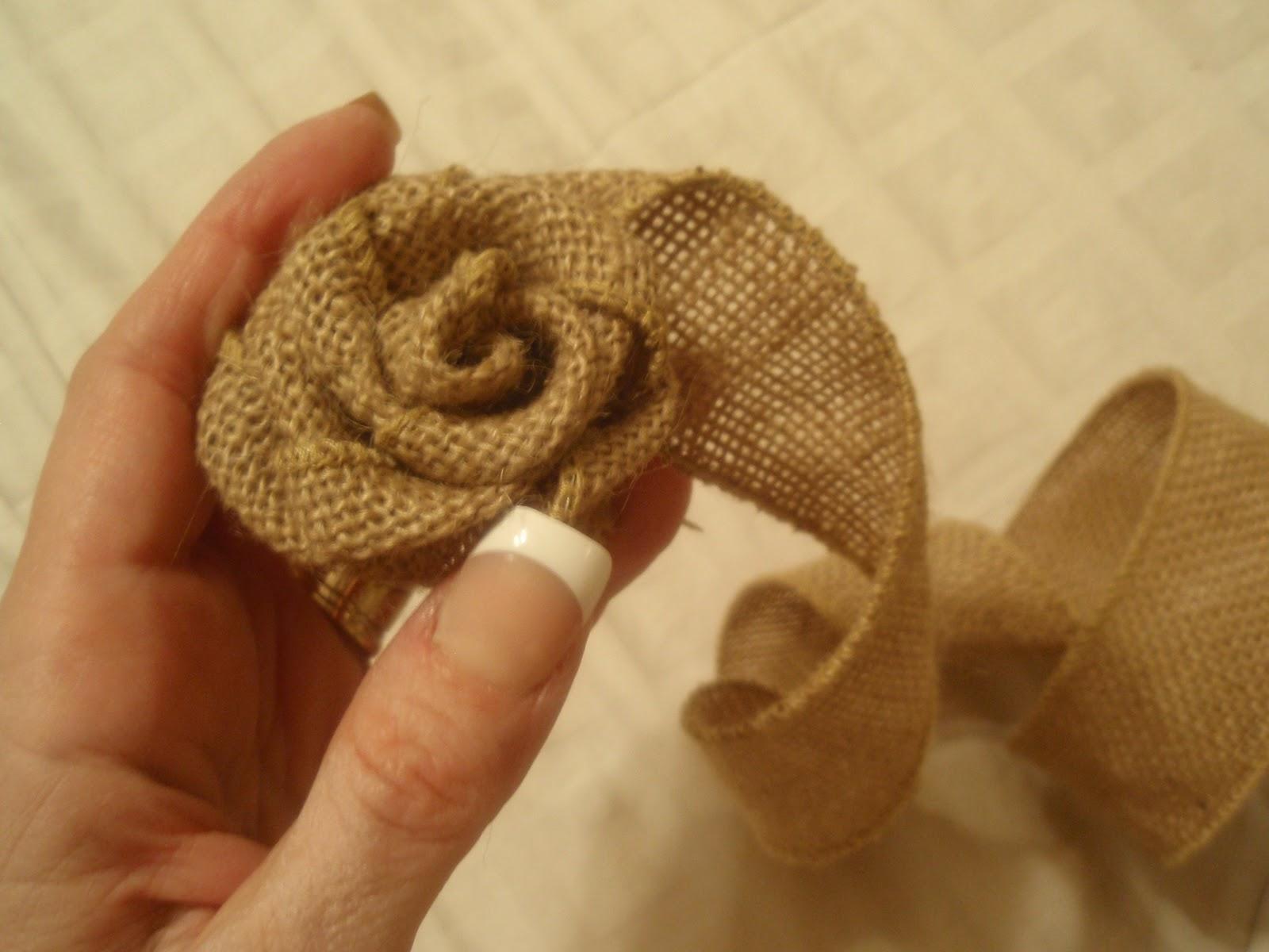 Make Burlap Making The Burlap Roses