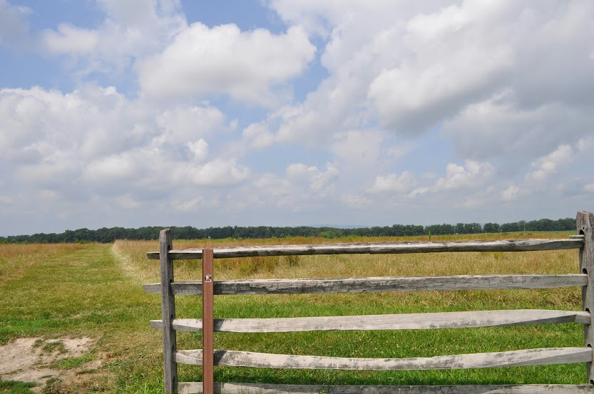 Post & Beam fence on the Emmitsburg Road
