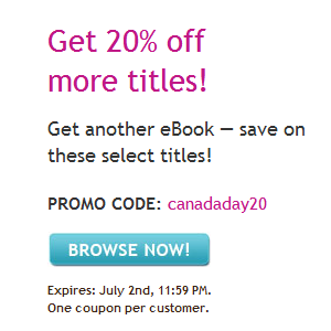 Kobo 20% Off Sale