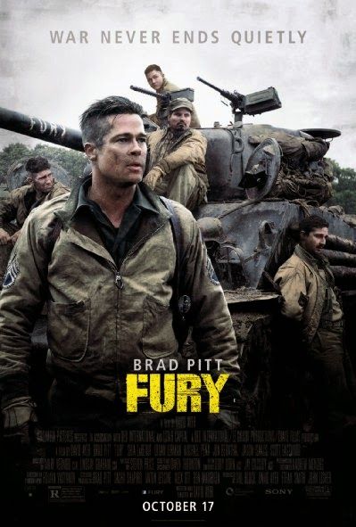 Poster Of English Movie Fury (2014) Free Download Full New Hollywood Movie Watch Online At alldownloads4u.com