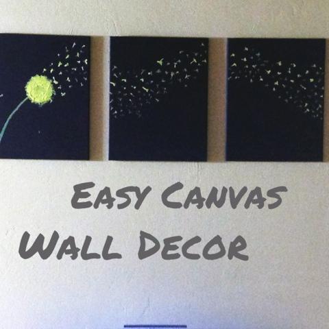 DIY Canvas Wall Painting
