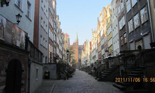格但斯克知名的琥珀街ulica Mariacka