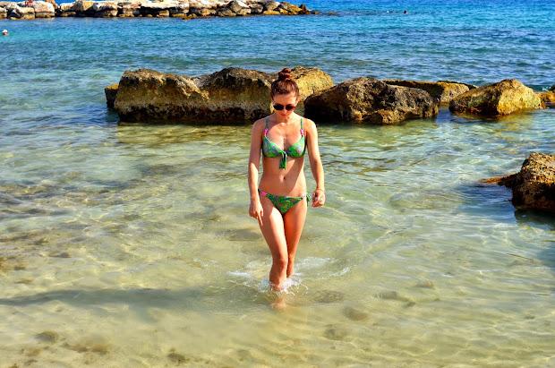девушка, юлия ульянова, кипр, пафос, пейя, пляж, море, пляж кораллия