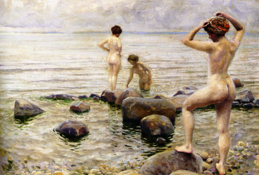 Paul Gustave Fischer - Girls Bathing
