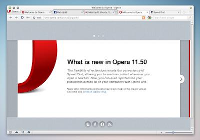 Opera 11.50 Linux
