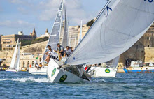 J/111 sailing Middle Sea Race off Malta