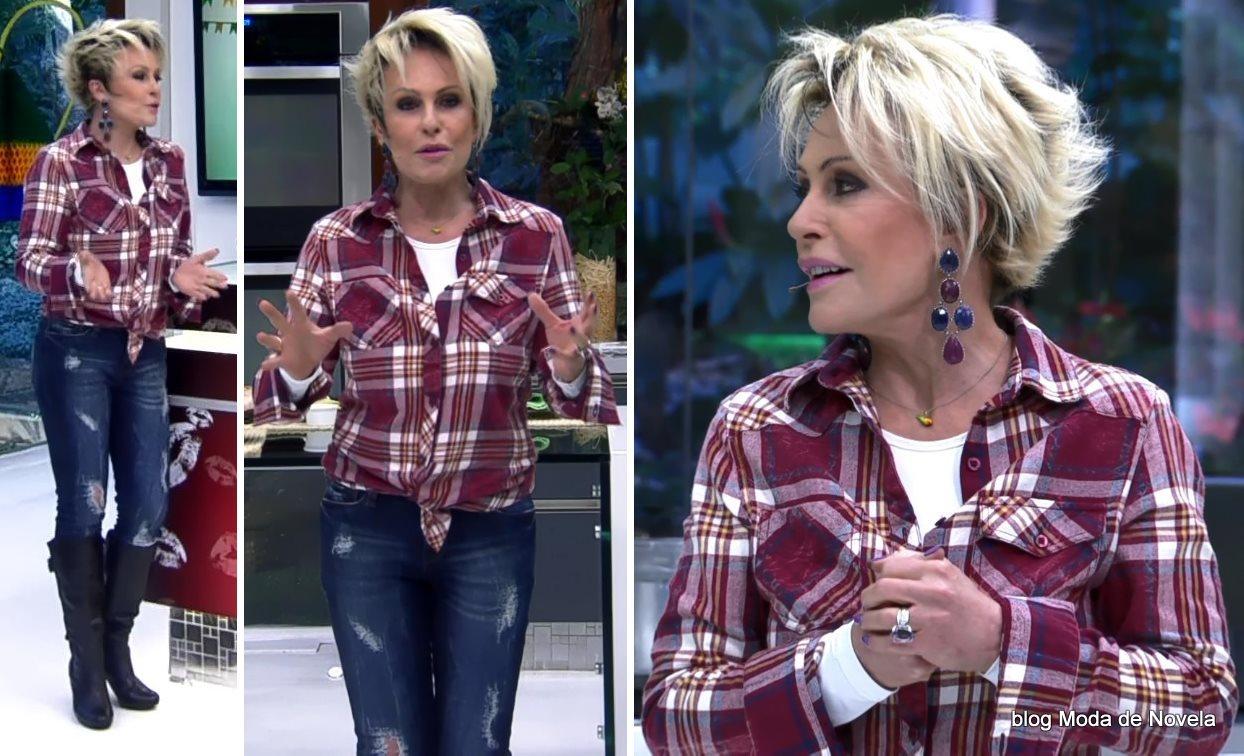 moda do programa Mais Você - look da Ana Maria no dia de São João