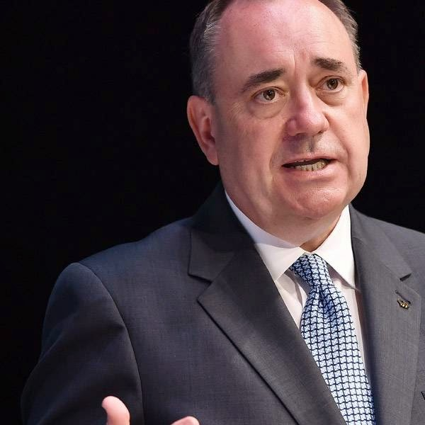 Scotland's First Minister Alex Salmond addresses journalists at the main media centre in the SECC in Glasgow, Scotland, on July 22, 2014, ahead of the start of the 2014 Commonwealth Games which begin on July 23, 2014.