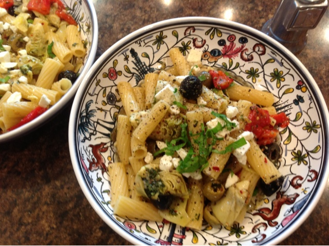 Moses Cooks: Rigatoni with Artichoke Hearts and Olives