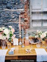 Cách thiết kế trang trí bàn tiệc dài đám cưới - TỦ ÂM TƯỜNG