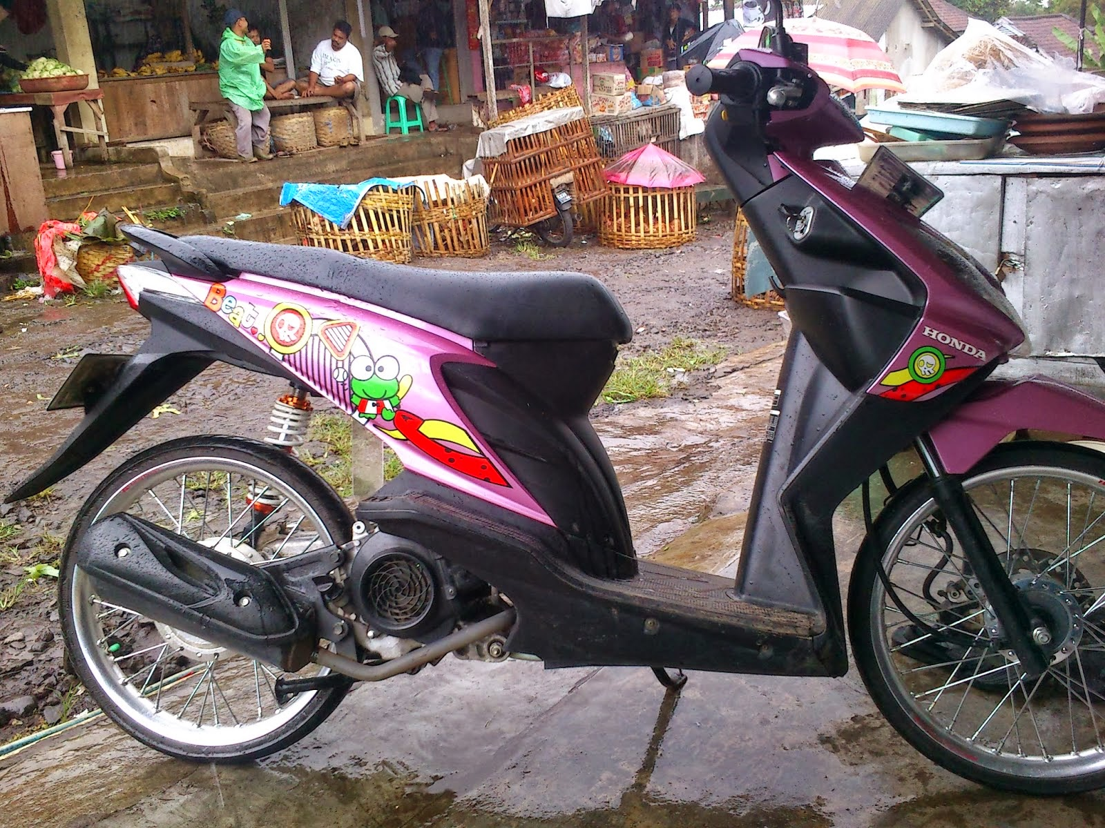 modifikasi stiker honda beat