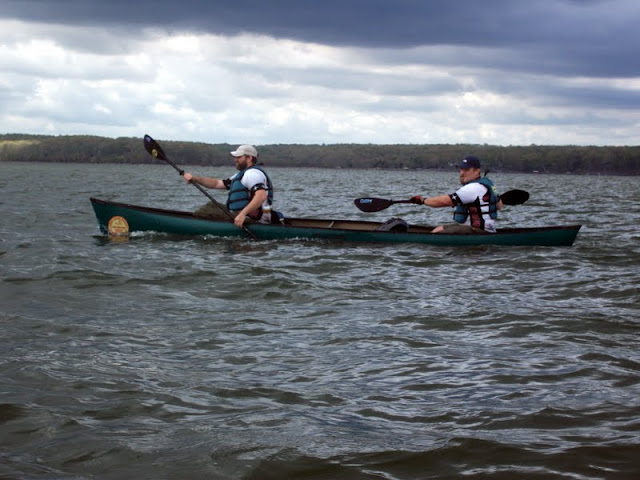 Casey and Bob paddling at LBL