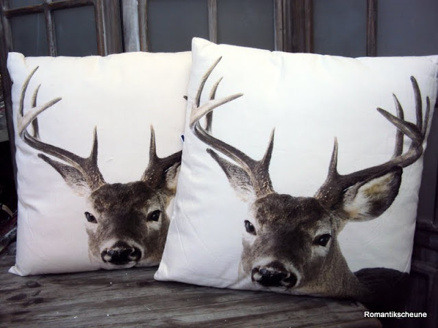 deko kissen hirsch wei 50 x 50 cm creme weis mars more ebay. Black Bedroom Furniture Sets. Home Design Ideas