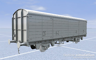 Fastline Simulation: Fourth type of VDA van for RailWorks