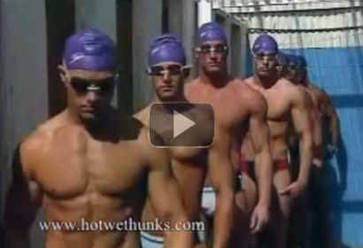 Hot US Swimmers at the Pool