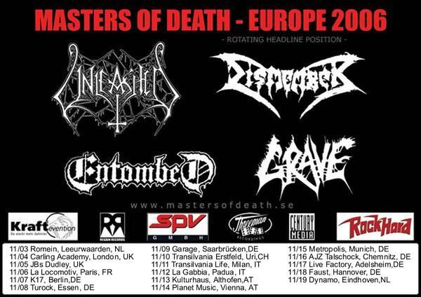 Dismember + Entombed + Grave + Unleashed @ La Locomotive, Paris 06/11/2006