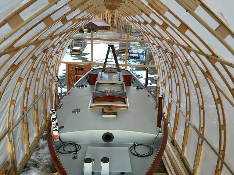 Bow Roof Boat Shed