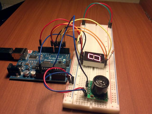 Arduino proxmity sensor circuit