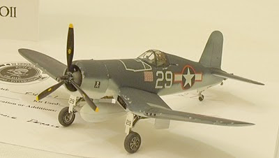 F4U Corsair model - frontal view