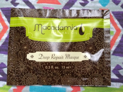 Sachet of Macadamia hair mask
