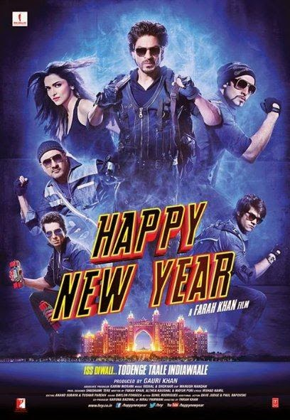 Poster Of Hindi Movie Happy New Year (2014) Free Download Full New Hindi Movie Watch Online At alldownloads4u.com