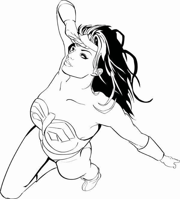 Ba Da Web Mulher Maravilha Desenhos Para Imprimir E Pintar