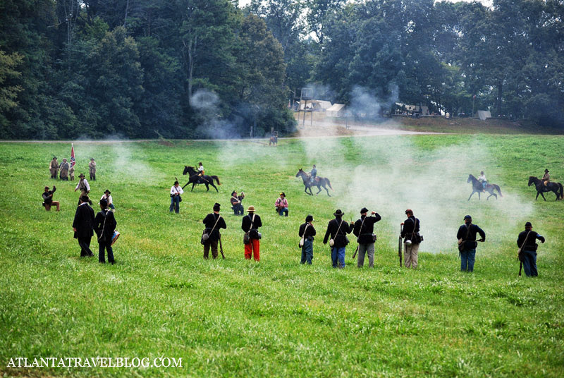 Реконструкция боя гражданской войны США